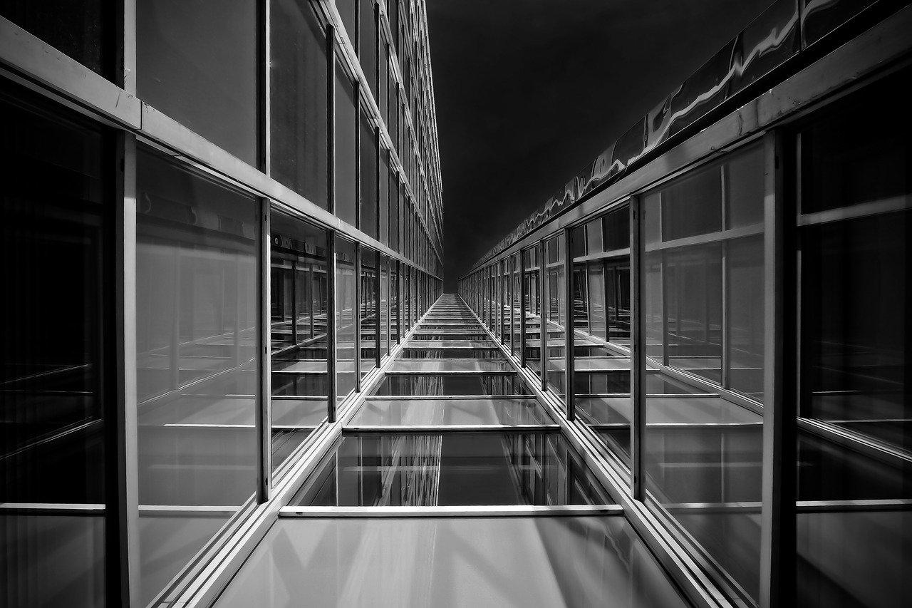 architecture, glass, modern